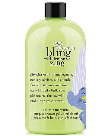 Philosophy Trolls Guy Diamonds Bling With Lemon Zing Shampoo Bubble Bath Body Wash