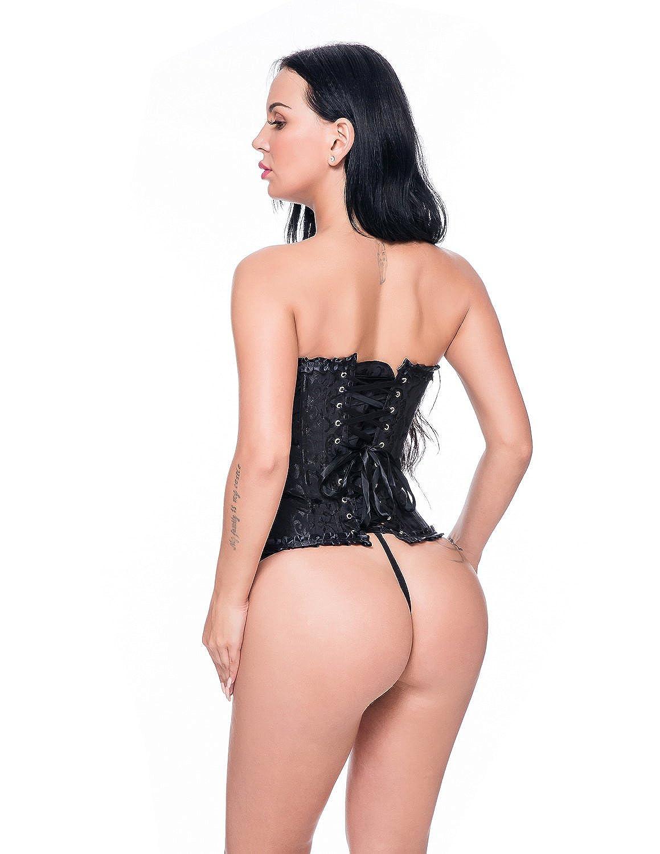 Beauty-You Mujer G/ótico Cors/é Formaci/ón Novia del overbust Bustier Plus tama/ño Modeladoras