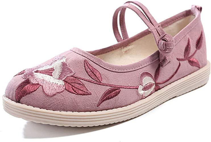 Dancing Shoes-YU/&Xin Womens Shoes Embroidered Shoes Pointed Cloth Shoes