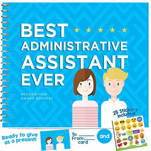 "EMPLOYEE & COWORKER APPRECIATION GIFT - ""Best Administrative Assistant Ever"" Recognition Award Booklet. Cool Gift Ideas For Coworkers in the Office!"