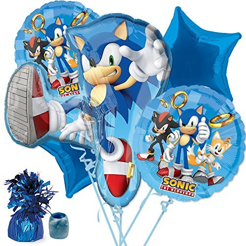 Costume SuperCenter Sonic Balloon Bouquet Kit]()
