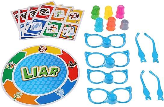 Fenteer Bluffing Game Juegos Stretch The Truth Juegos de Mesa para Niño: Amazon.es: Juguetes y juegos