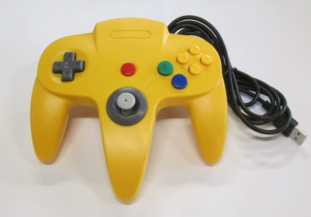 N64 USB Controller Yellow For Window, Mac, and Linux by Mars Devices