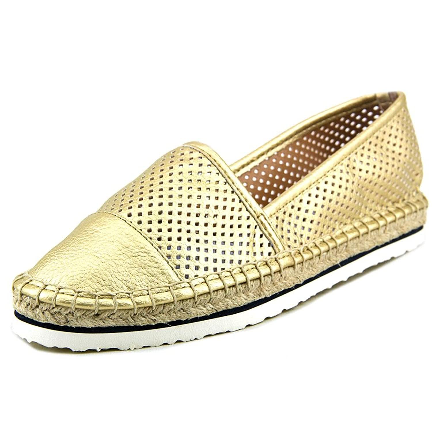 Tommy Hilfiger Women's Edore Perforated Espadrilles, Gold, Size 9.5