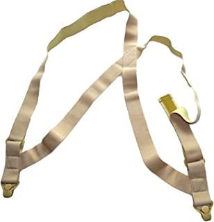 product image for Hold Brand hidden undergarment beige side-clip style Suspenders with airport friendly Beige Gripper Clasps