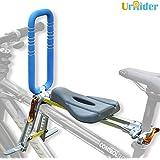UrRider Child Bike Seat, Portable, Foldable & Ultralight Front Mount Baby Kids' Bicycle Carrier Handrail Mountain Bikes, Hybrid Bikes, Fitness Bikes (Blue) ASIN:B087P7JHV6