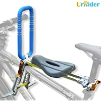 UrRider Child Bike Seat, Portable, Foldable & Ultralight Front Mount Baby Kids' Bicycle Carrier Handrail Mountain Bikes, Hybrid Bikes, Fitness Bikes
