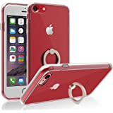 iPhone 6S/7/7 Plus Case, IFCASE Scratch Resistant Backplate Shockproof Crystal Clear Bumper Case for iPhone 6/6S/7/7 Plus with Ring Holder Kickstand