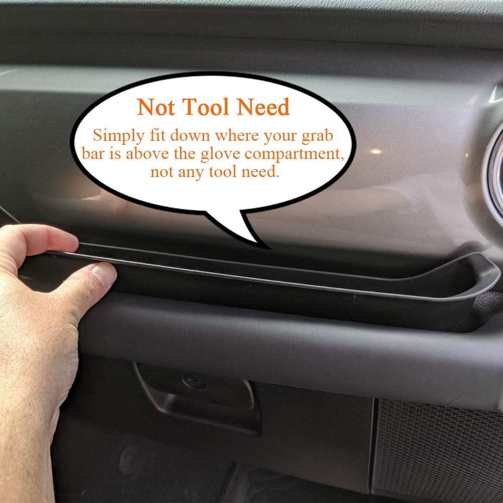 BulbForst Passenger Grab Tray Storage Organizor Box Install in the Passenger Grab Handle for 2011-2018 Jeep Wrangler JK//JKU 2 Doors and 4 Doors Wrangler Interior Accessories