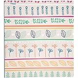 """Mead 3 Ring Binder, 1"""", Botanical Boutique, Stripes Design (73837)"""