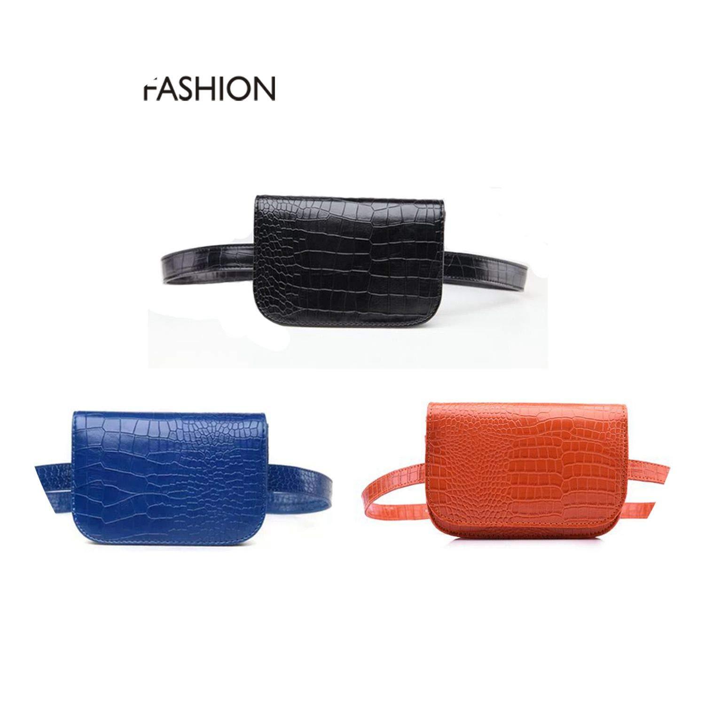 Waist Belt Bag Crocodile PU Leather Belt Pack Waist Bag Small Women Bag Travel Bag Waist Pack Bolsas