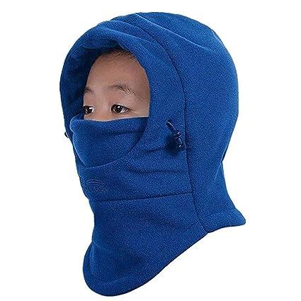 a231effbca4b Amazon.com  HZTG Children s Winter Windproof Cap Thick Warm Face ...