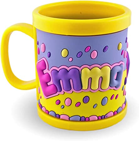 Meine Emma Name Mug 3D Cup Yellow For Children Plastic
