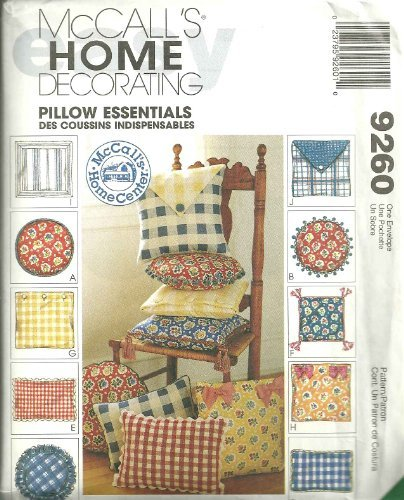 McCall's Home Decorating Pattern 9260 Pillow Essentials by McCall's