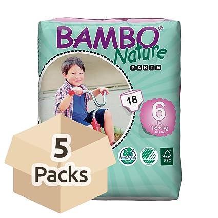 Bambo Nature - Pantalones de entrenamiento ecológico para bebé, talla 6, 90 unidades (