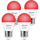LED Red Light Bulb Dimmable 40W Equivalent A15 Red Light Bedroom Night Light Party Decoration Porch Holiday Lighting E26 Base