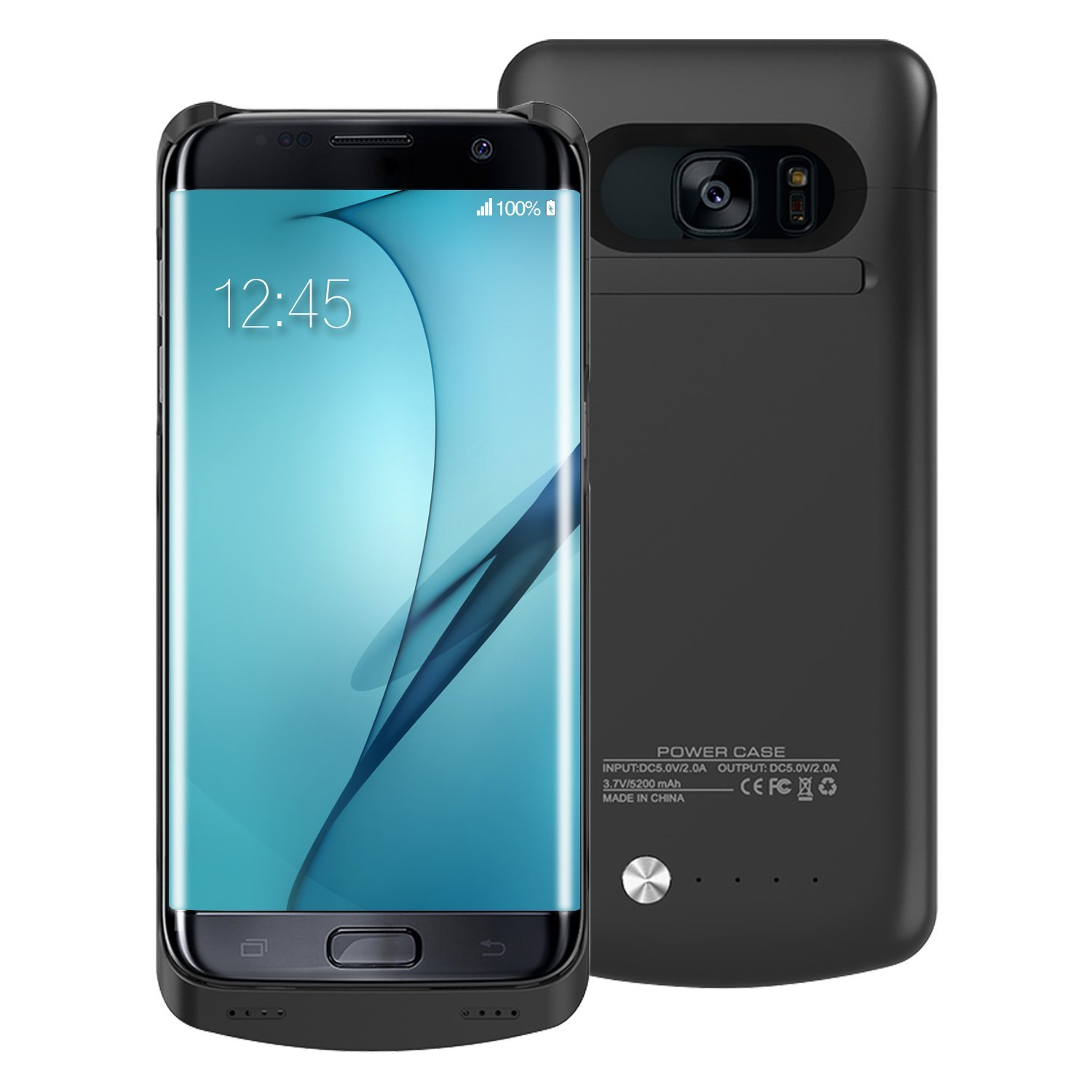 new styles f35d0 3d551 Alclap Samsung Galaxy S7 Edge Charger Case-5200 Mah[Full Charge Once]  Portabl..