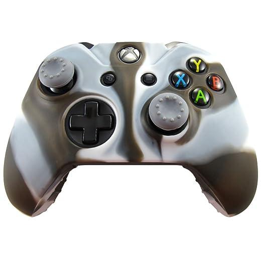 321 opinioni per Pandaren® Pelle cover skin per il Xbox One controller(bianco nero) x 1 + pollice
