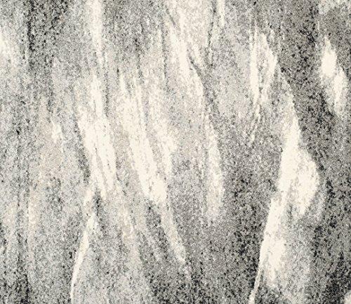 Safavieh Retro Mid Century Modern Abstract Grey Ivory Rug: Safavieh Retro Collection RET2891-8012 Modern Abstract