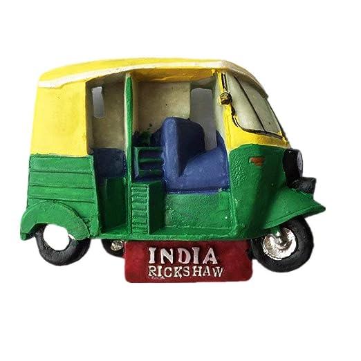 UmerBee Imanes de Nevera de la India Rickshaw, especialidad India ...