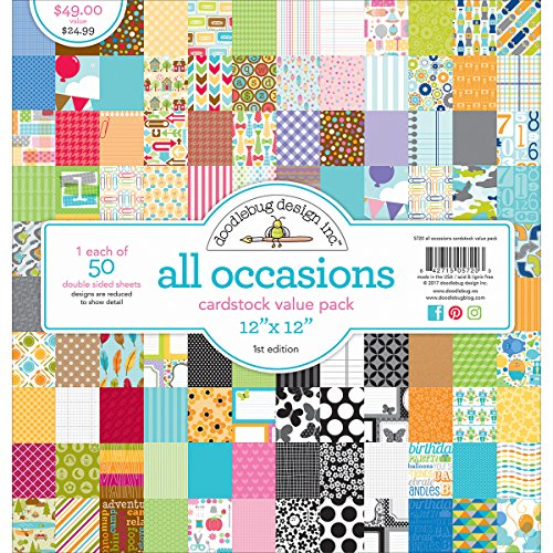DOODLEBUG 5720 Value Kit Cardstock 12