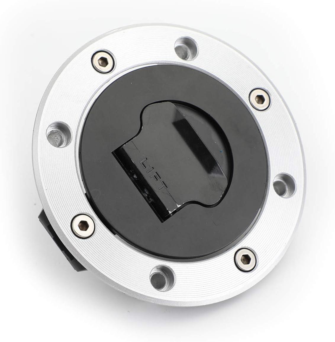Areyourshop llave de bloqueo de tapa de combustible para interruptor de encendido para Su-zu-ki V-Strom DL650 DL1000 2002-2012