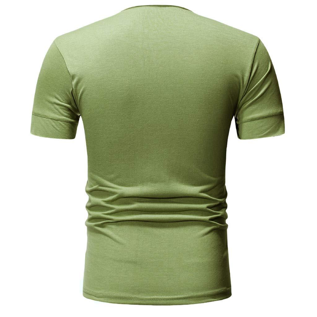 Bsjmlxg Mens Fashion U Neck Tight T-Shirt Daily Stretch Short Sleeve Shirt Fitness Leisure Training