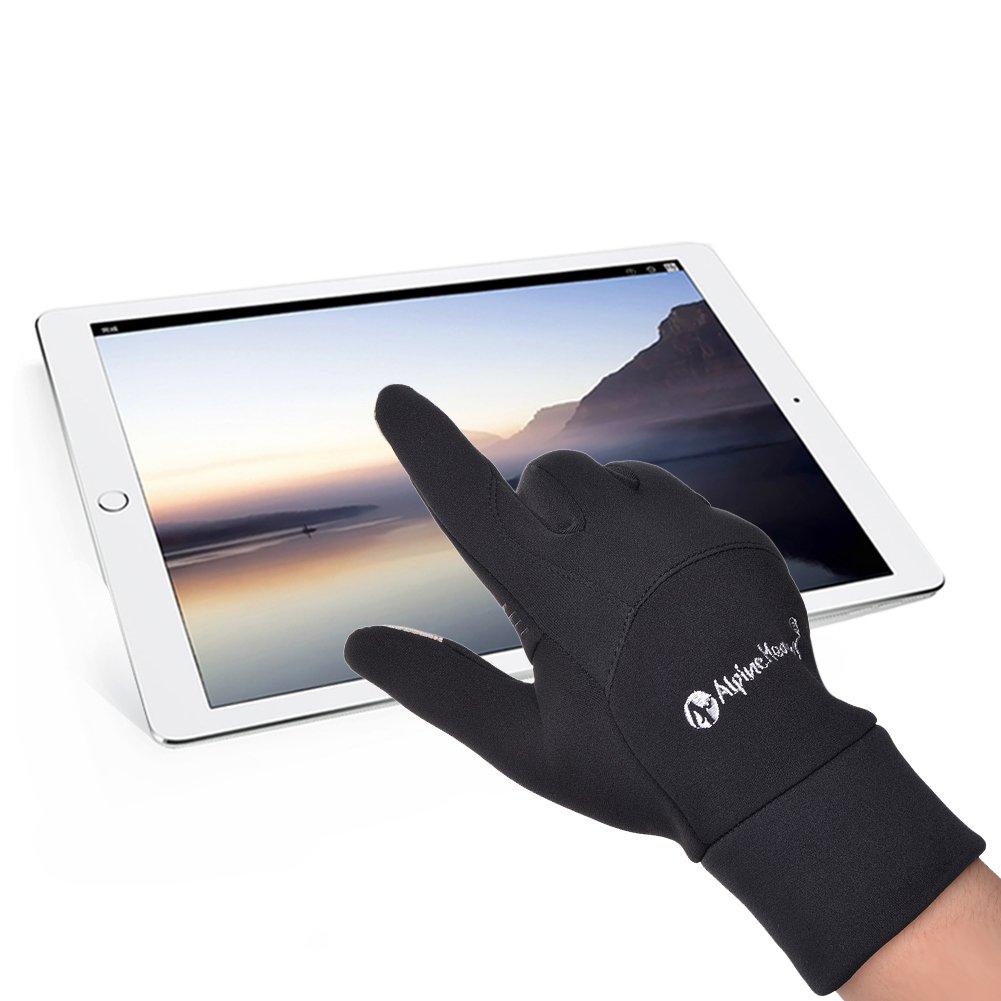 Vbiger Herren Touchscreen Handschuhe Winterhandschuhe Anti-Rutsch Outdoor Sport Handschuhe Fahren Radfahren Handschuhe mit Fleece Liner, XL,  Grau