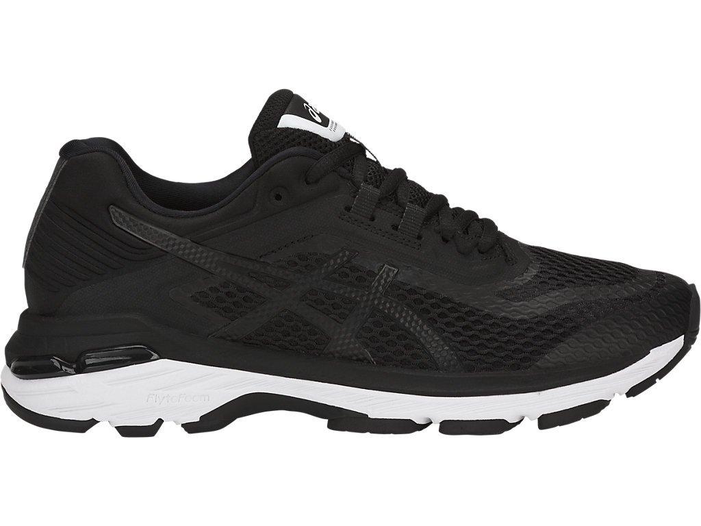 ASICS Women's GT-2000 6 Running Shoes, 5.5M, Black/White/Carbon