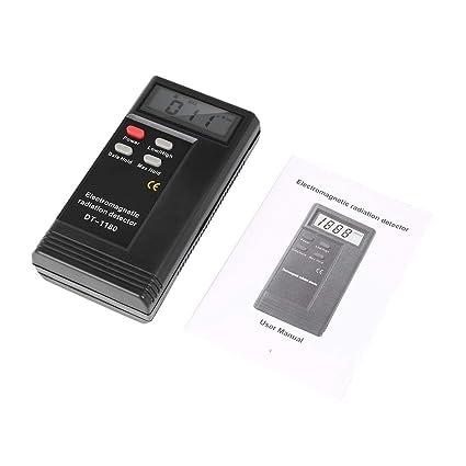 Detector de radiación electromagnética / Probador eléctrico, Detector de radiación electromagnética DT-1180 Pantalla