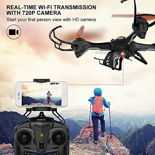 DBPOWER-Predator-U842-WIFI-RC-Quadcopter-Drone-with-HD-Camera-24G-4CH-6-Axis-Gyro-Headless-Mode-For-Beginners-Big-Size-Black-for-Outdoor-Use