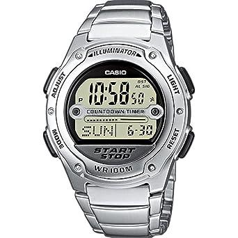 Casio Reloj Digital para Hombre de Cuarzo con Correa en Acero Inoxidable W-756D-7AVES: Casio: Amazon.es: Relojes