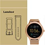 Lamshaw Smartwatch Band for Fossil Q Venture, Milanese Metal Stainless Steel Mesh Replacement Strap for GEN 3 SMARTWATCH - Q VENTURE (Rose Gold)