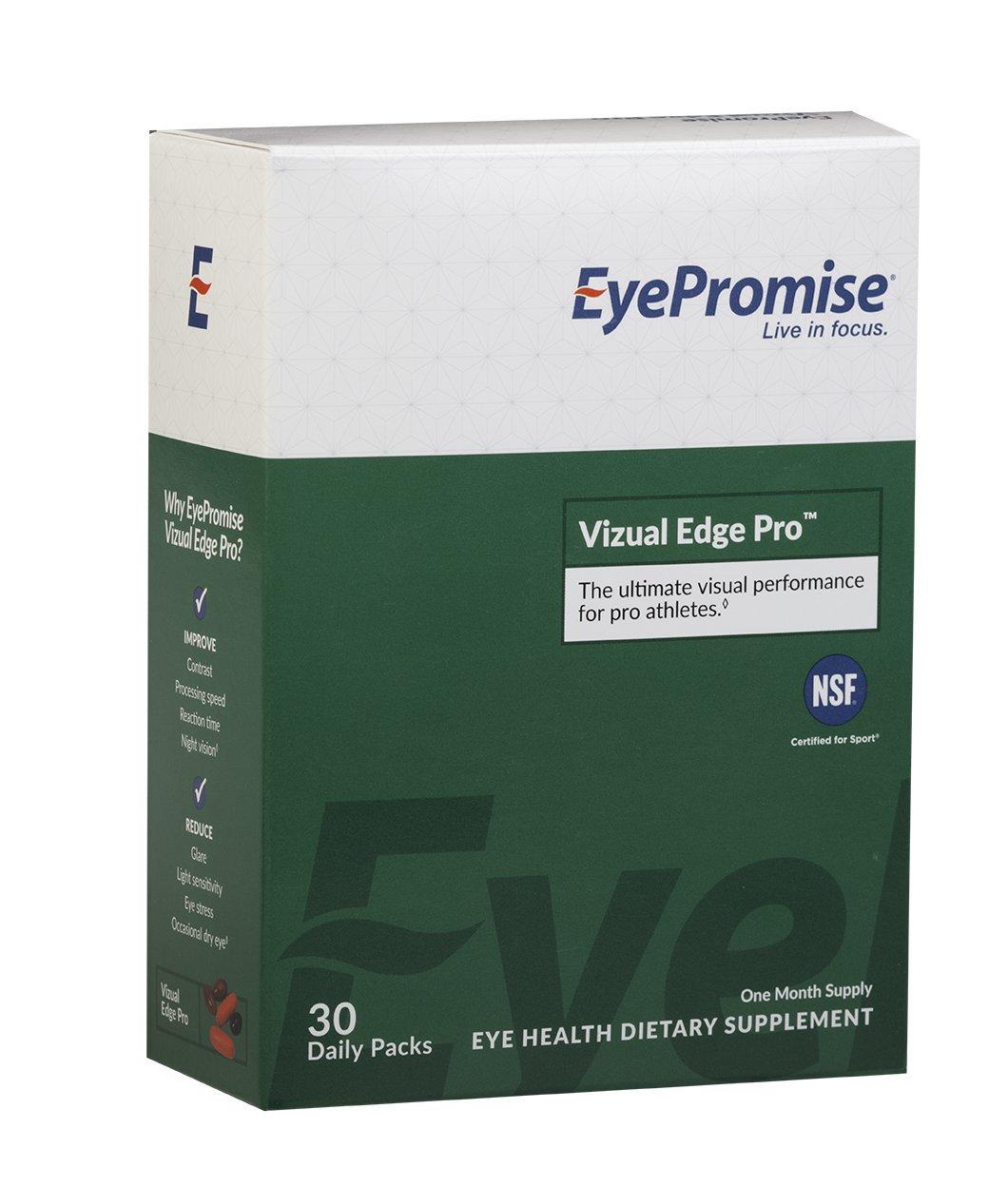 Eyepromise Vizual Edge Pro - 1 Month Supply | Performance Eye Vitamin with Zeaxanthin, Lutein, Omega-3 Fish Oil & Vitamin D