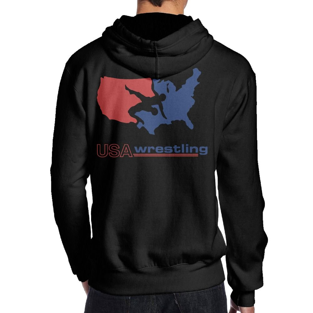 USA Wrestling Men's Hooded Sweater Hoodies Pullover Clothes ( Back Print ) by HGTEe