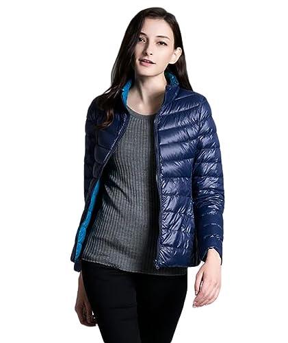 YOUJIA Chaqueta de pluma para Mujer - Acampada / Aire libre - Reversible Ligero abrigo de invierno
