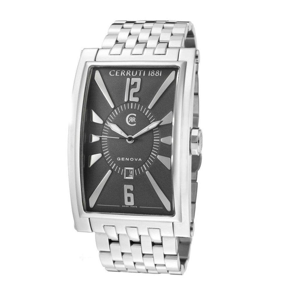13f70b9a4 Buy Cerruti 1881 Men's CRB004A221C Genova Uomo Grey Dial Stainless Steel  Watch Online at Low Prices in India - Amazon.in