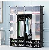 16 Cubes Diy Wardrobe Storage - Black