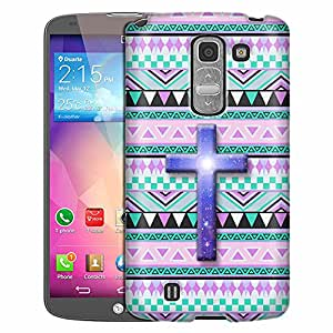 LG G Pro 2 Case, Slim Fit Snap On Cover by Trek Cross on Aztec Andes Mauve Teal Case