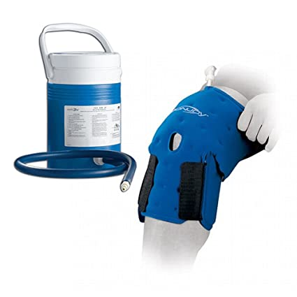 5c7144bf1a Donjoy ArcticFlow Knee Wrap with Cooler - Ice Compression Unit Device,  Support, Pain Relief