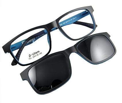 241e3275ae2 Circleperson Men women Eyeglass frame magnetic glasses polarized clip on  50-18 (Black