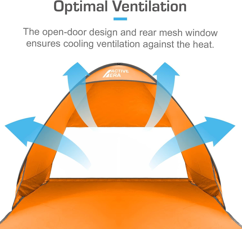 Active Era Tente de Plage Pop Up Deployable Protection Solaire UV UPF 50+