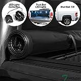 Heavy Duty Hidden Snap-On Soft Tonneau Cover VXMOTOR for 04-07 Chevy Silverado//GMC Sierra Crew CAB 5.8 ft Bed