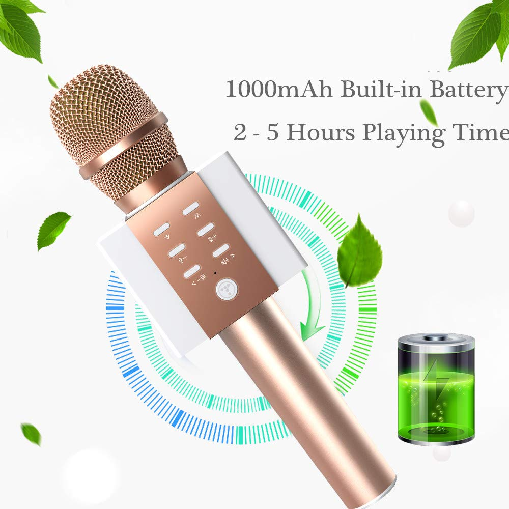 TOSING Wireless Karaoke Microphone, Louder Surrounding Stereo, Bluetooth Handheld Portable Karaoke Machine, Top Birthday Easter Gifts Ideas for Teens and Adults, Compatible with iPhone Android Phones by TOSING (Image #6)