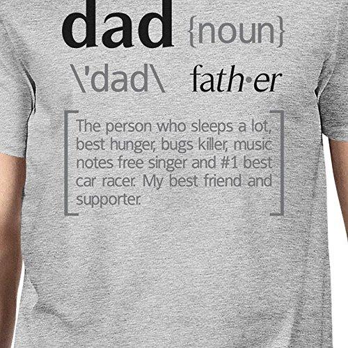 manga One Size hombre 365 de Dad Noun Grey Printing para Camiseta corta gwnR0tRAx