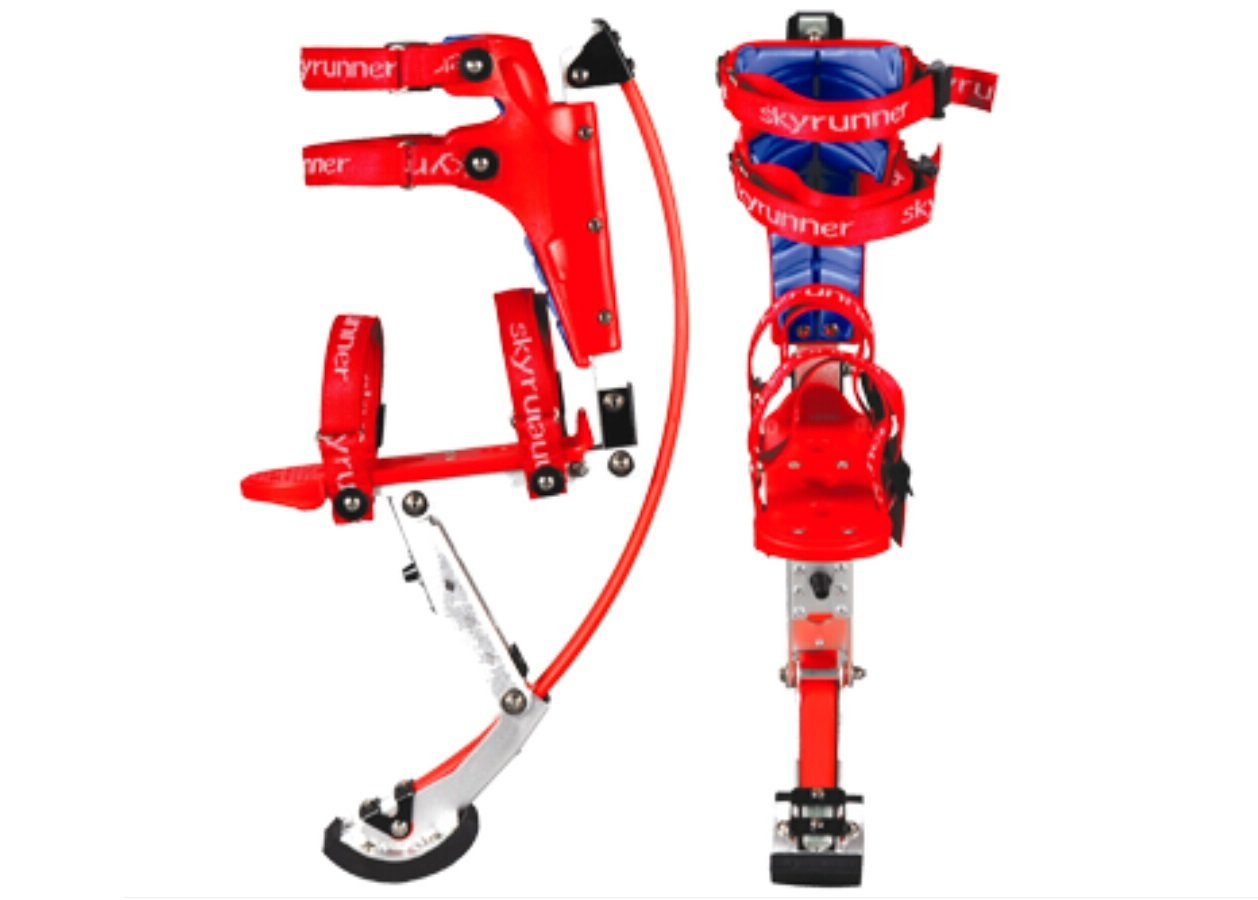 Kids/child Youth Kangaroo Shoes Jumping Stilts Fitness Exercise (88-132lbs/40-60kg) (Black) (red)