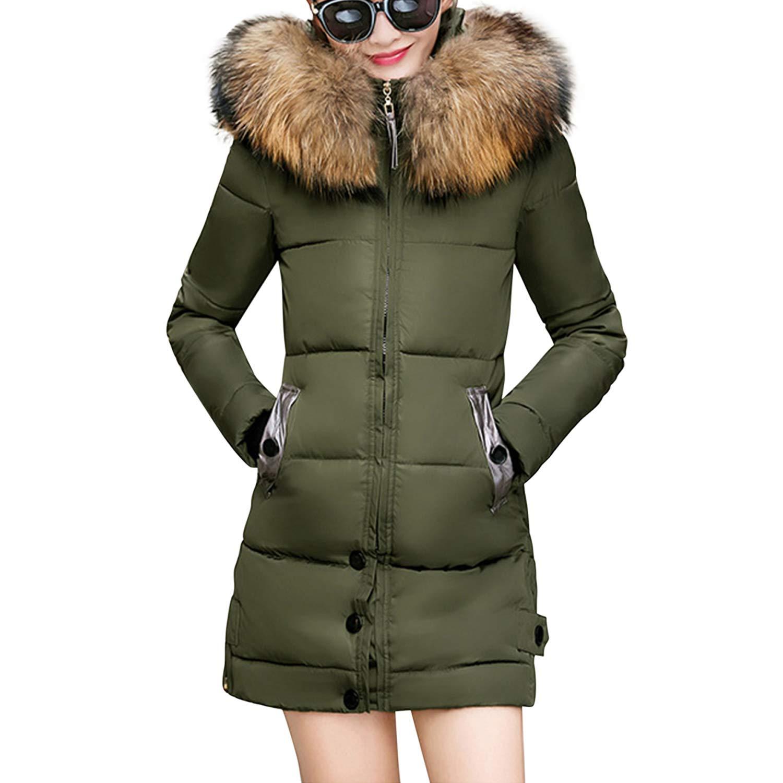 a8b76140c Lisli Women's Winter Warm Down Coat Faux Fur Hooded Parka Puffer ...