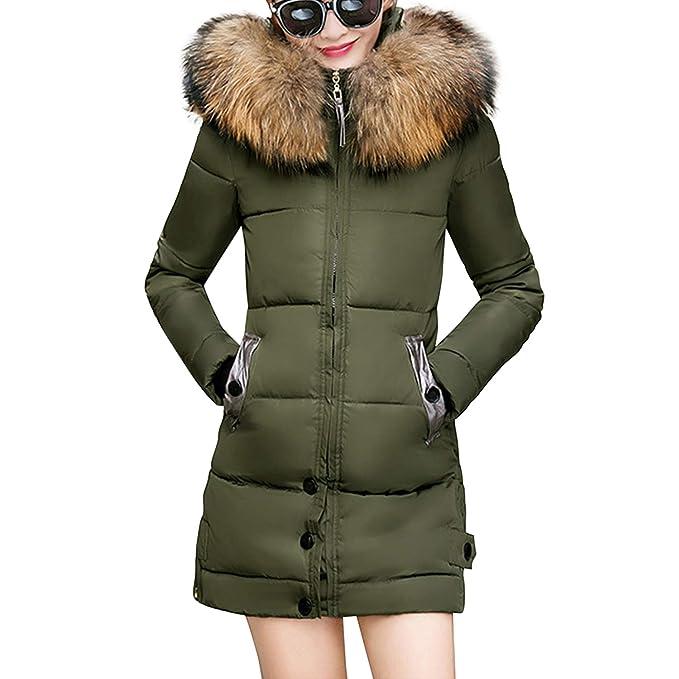 Amazon.com: Lisli - Chaqueta de invierno con capucha de piel ...