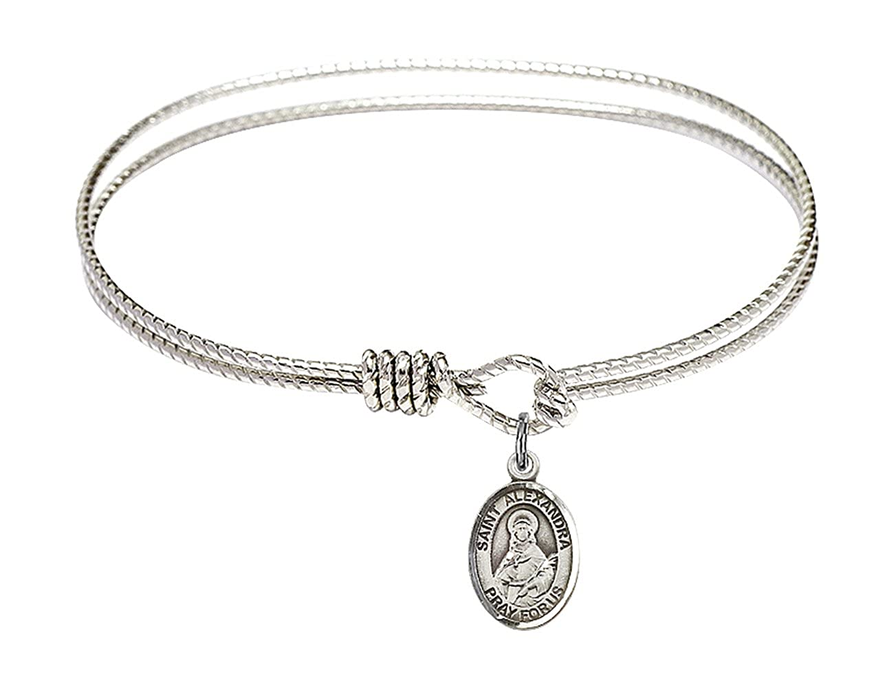 Alexandra Charm. DiamondJewelryNY Eye Hook Bangle Bracelet with a St