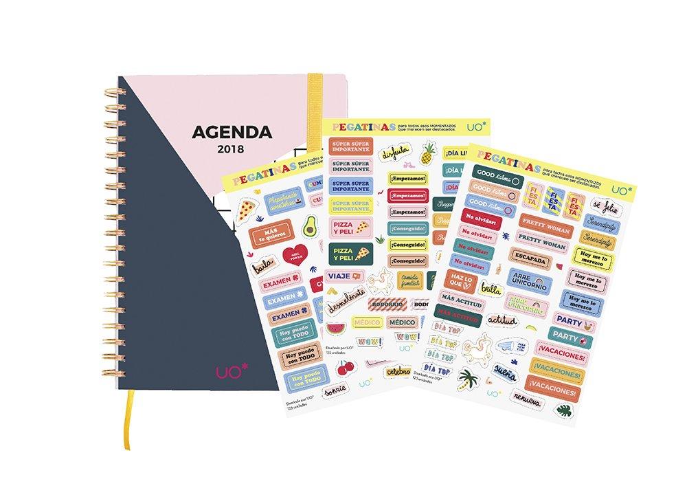 UO KTAG18ED1 - Kit agenda 2018 con diseño Actitud: Amazon.es ...